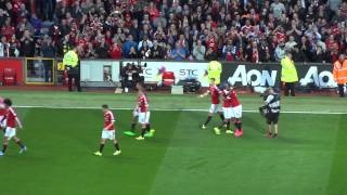 2015 16 epl manchester united 3 1 liverpool celebrating anthony martial s first united goal
