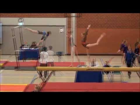 Mara turnen - gymnastics, 2e plaatsingwedstrijd Brunssum, junior (1) divisie 3, suppl. D, 24-01-2015
