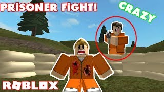 Crazy Prisoner Fight in Roblox!! - Roblox Prison Royale and Caribros Battlegrounds #3
