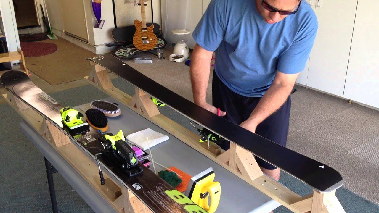 how to put zum wax on skis