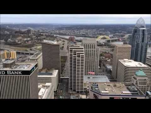 574 Feet Over Downtown Cincinnati - Carew Tower - Cincinnati Ohio