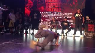 Mini Japa vs Nathana Brasil Super Battle 2018 Final Bgirl