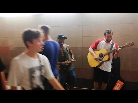 FUTURELOVE & DEJVDOU -  Get Free (LIVE) freestyle at Bratislava train station 2019