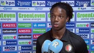 Malacia over Heerenveen-Feyenoord (3-5): 'Mooi moment in mijn carrière'
