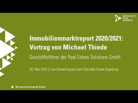 Präsentation des Immobilienmarktreports 2020/2021: Vortrag von Michael Thiede