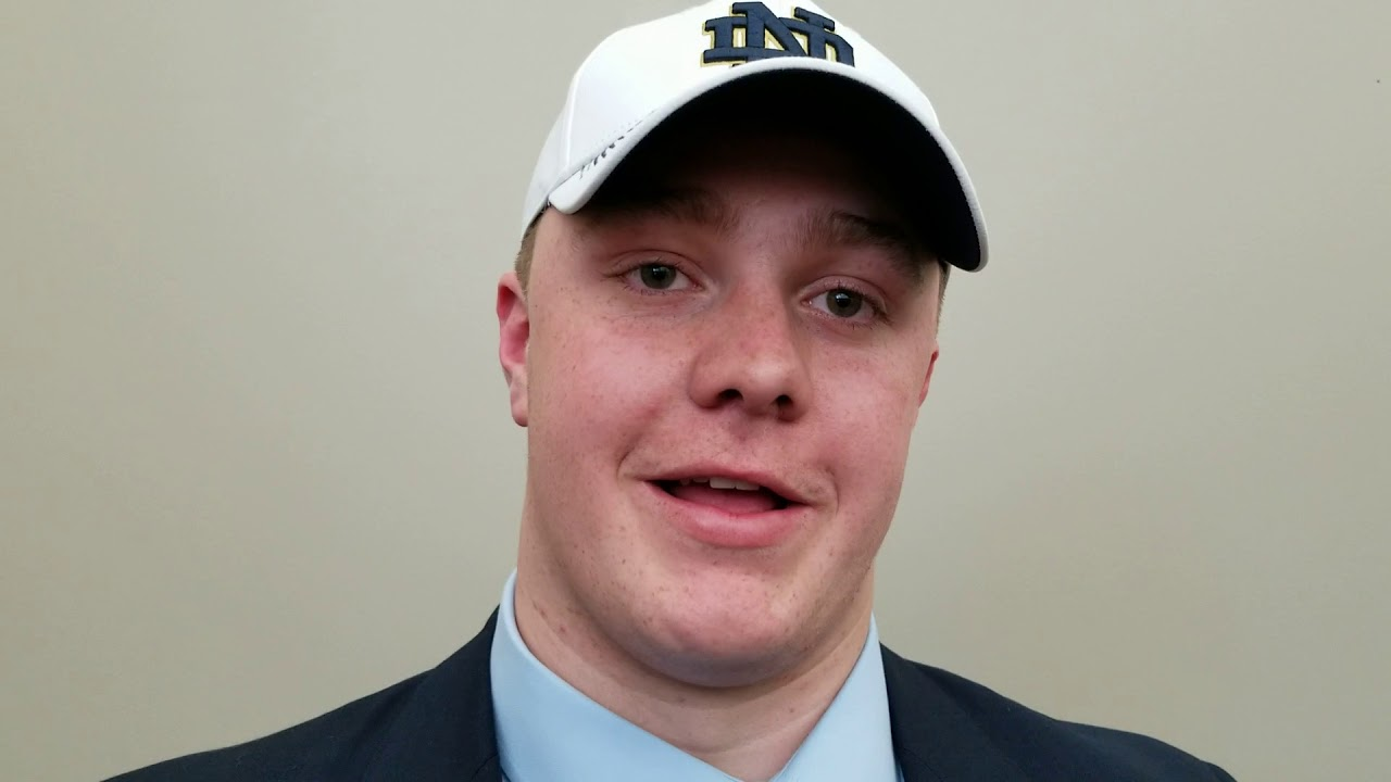WATCH: 4-star OL John Olmstead reveals why he committed to Notre Dame