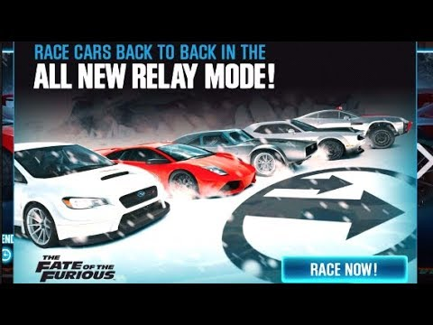 NEW Fate of The Furious DLC Relay Drag Racing on ICE - CSR Racing 2