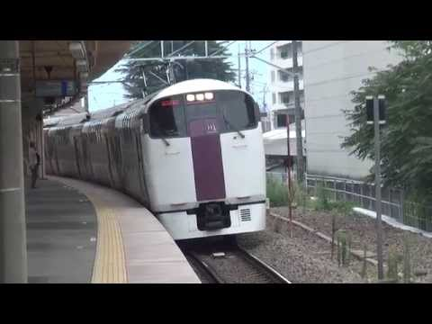 【JR東日本】215系ダブルデッカー 中央本線山梨市駅(山梨県)到着と発車 Japanese Double Decker Liner