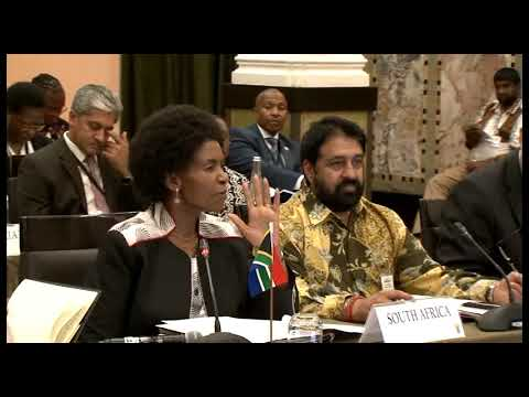 Minister Maite Nkoana Mashabane delivers closing remarks at the first BRICS Sherpa meeting