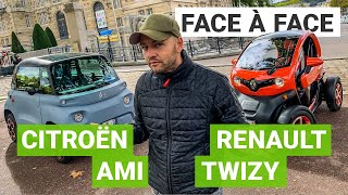 Citroen AMI vs. Renault TWIZY: which one is the best electric cars without a licence? (subtitles)