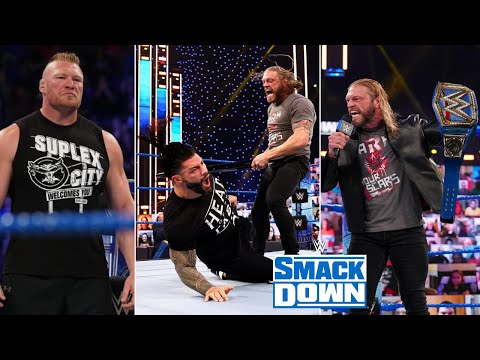 WWE Smackdown 16th April 2021 Highlights, Roman reigns Double Pin   Edge Becomes Universal Champion