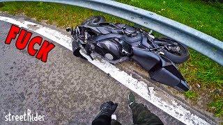 СНОВА РАЗЛОЖИЛСЯ НА МОТОЦИКЛЕ | Авария на Honda Fireblade