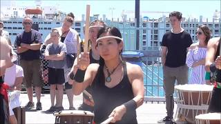 Free event. Wonderful Japanese Taiko drumming performance at Freman...