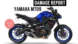 Yamaha MT09 (FZ09) - 2018 Damage Report