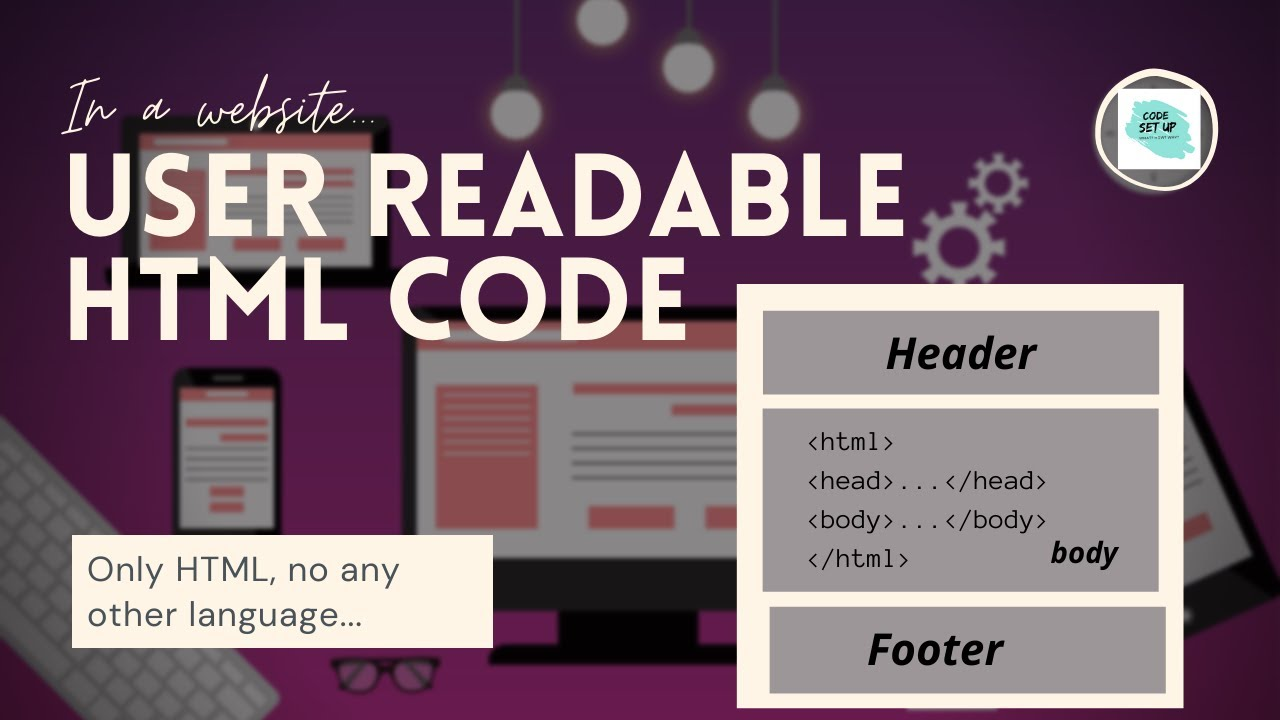 Display the html code in the website only using html.