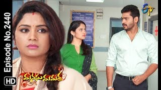 Manasu Mamata | 15th November 2018 | Full Episode No 2440 | ETV Telugu