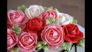 як зробити квіти з масляного крему для торта