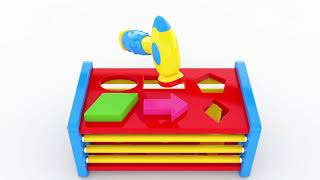 Shapes for Children to Learn with Sliding Balls and Shapes - Shapes Videos Collection