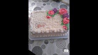 Торт на Юбилей.Торт на День Рождения.ТОрт кремовый,торт с Вафельной картинкой