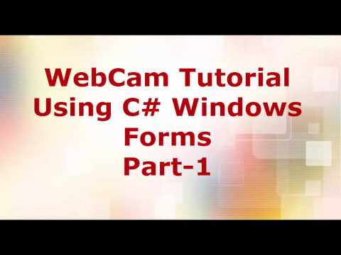 Capture Images from Webcam in C# Part-1
