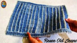 How To Make Easy Doormat With Waste Clothes | Diy Floor mat | GIRISH SHANKU
