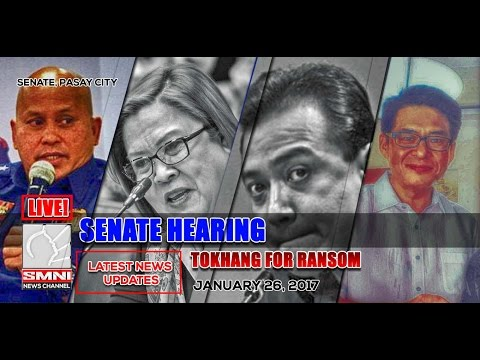 LIVE! SENATE PROBE ON TOKHANG FOR RANSOM JANUARY 26, 2017