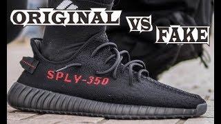 Adidas Yeezy Boost 350 V2 Black Red Original & Fake