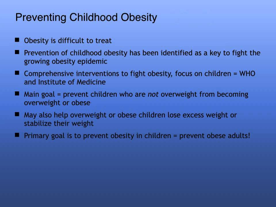 adult obesity Prevent