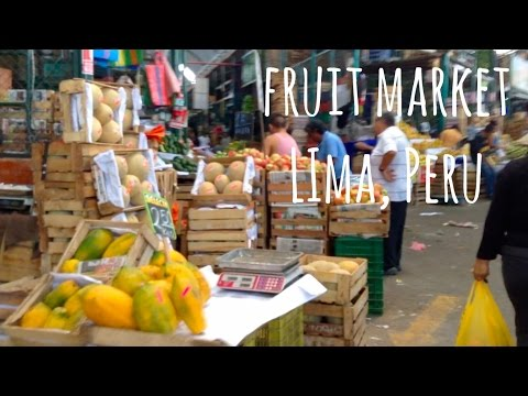 Wholesale Fruit Market - Lima, Peru