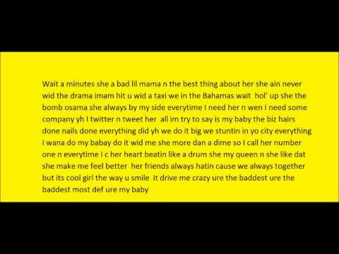 Mr Mrs Fresh My baby lyrics