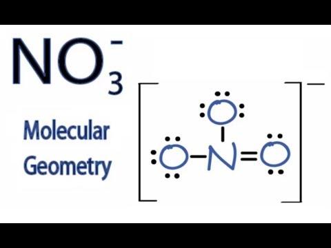 NO3- Molecular Geometry / Shape And Bond Angles