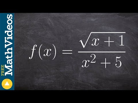 Find the domain of a function with the radical in the numerator
