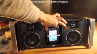 altec lansing imt810 digital boombox unboxing and review