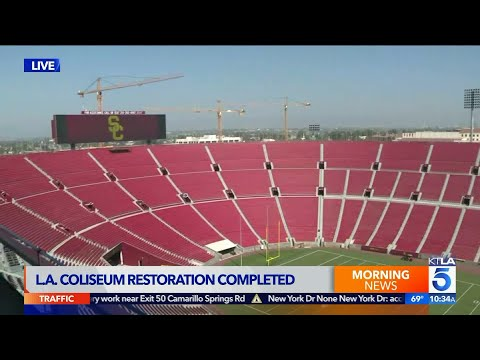 Officials Complete $315 Million Renovation Project at L.A. Coliseum