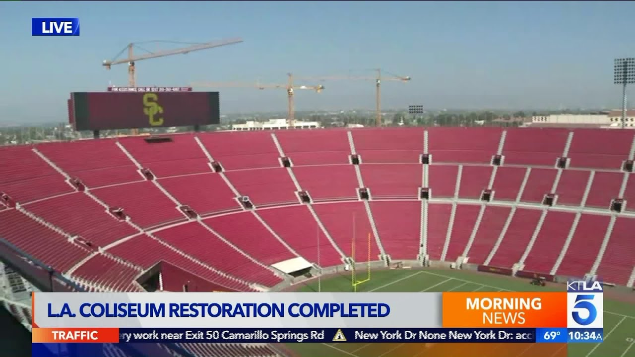 Officials Complete 315 Million Renovation Project At L A Coliseum Youtube