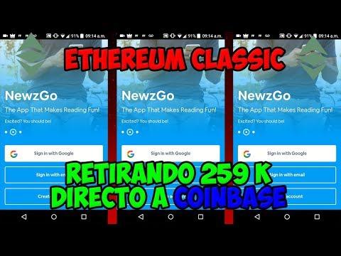 NewzGo | Nuevo retiro de Ethereum Classic| Satoshi X Minuto