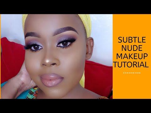 subtle nude makeup tutorial/ beginner friendly  youtube