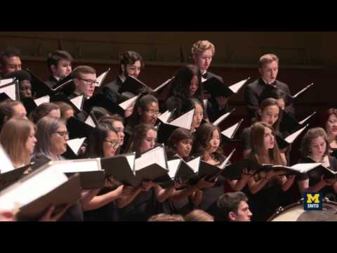 U-M University Choir Performs Works by David Lang and Michael Tippett