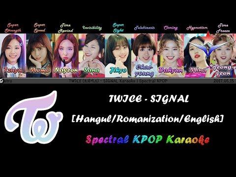 TWICE (트와이스) - SIGNAL Karaoke/Instrumental | Spectral KPOP
