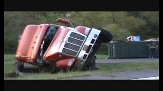 Peterbilt Popsicle Semi Truck Rollover Recovery