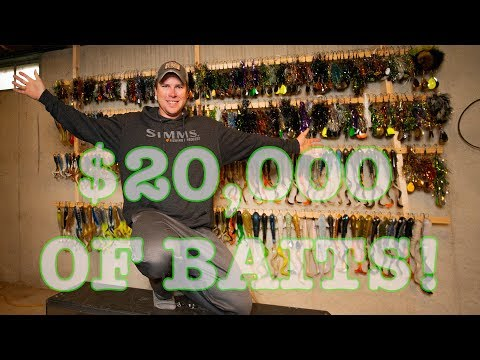 $20,000 OF BAITS! (Tackle Storage Tips/stories) Tackle Tips Ep.1