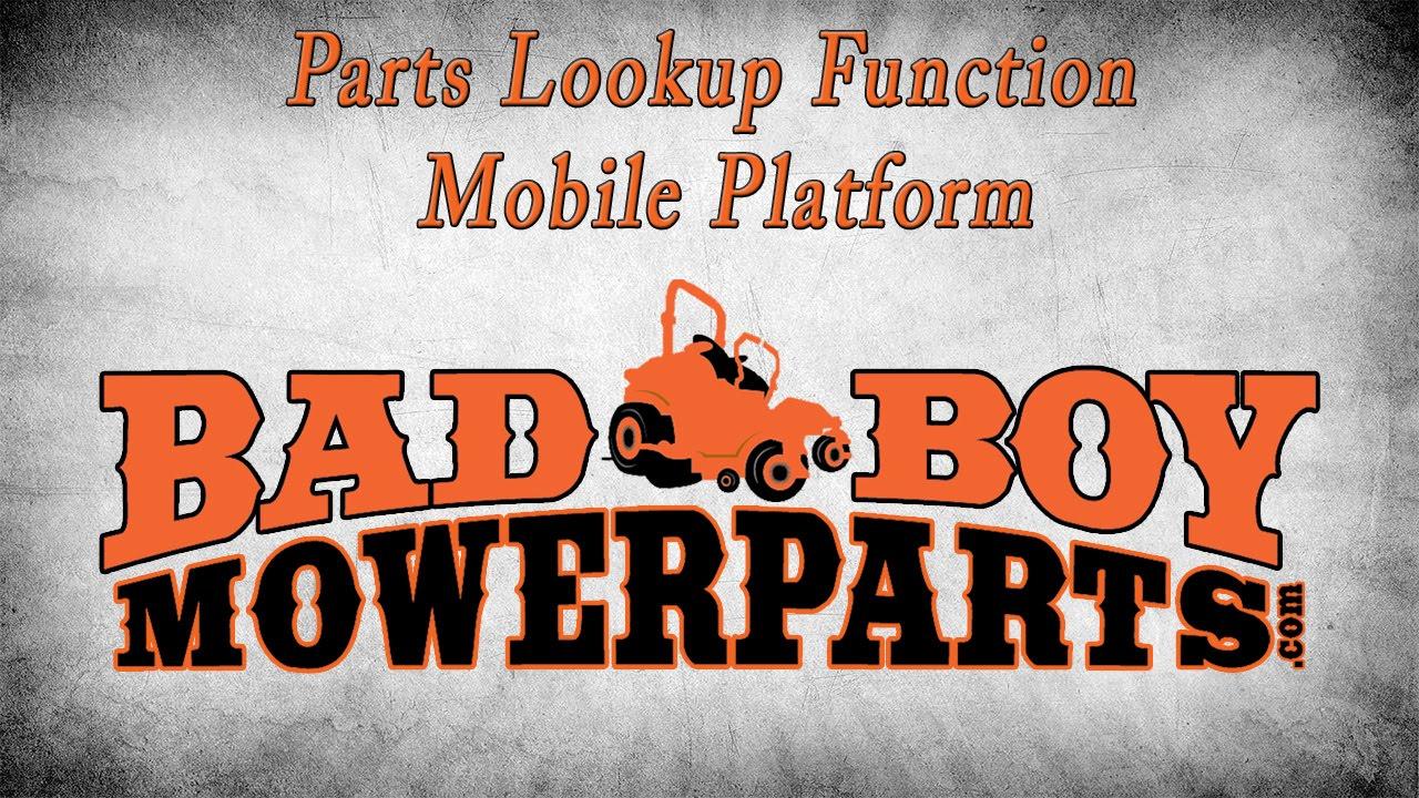 Bad Boy Mower Parts - Bad Boy Mowers Parts Lookup| Bad Boy Parts