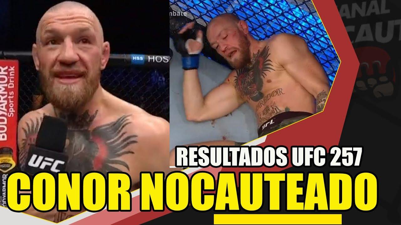 CONOR McGREGOR FOI NOCAUTEADO POR DUSTIN POIRER ( RESULTADOS UFC 257)