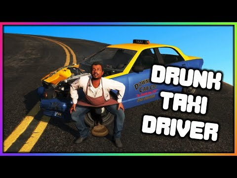 Gta 5 Roleplay - Drunk Taxi Driver + Plane Crash (Funny Moments)