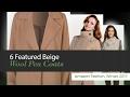 6 Featured Beige Wool Pea Coats Amazon Fashion, Winter 2017