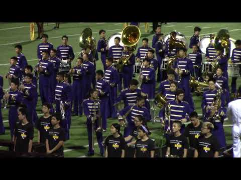 2018-08-17 Diamond Bar High School Football Game Half-time Show by Marching Band - Full Video