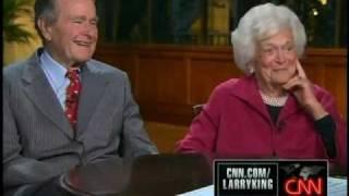 Larry King Live ~ G.H. Bush Sr. Straight On Obama ~ 11-22-10