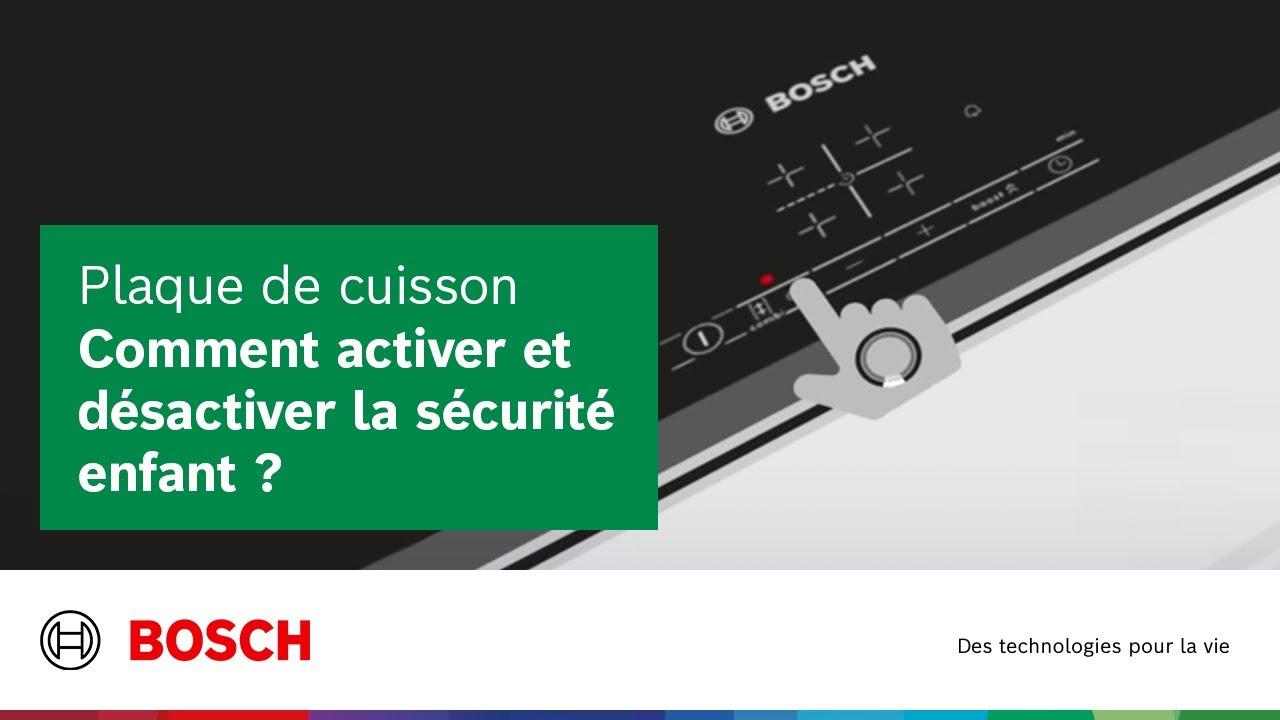 Plaque De Cuisson Comment Activer Et Desactiver La Securite Enfant Youtube