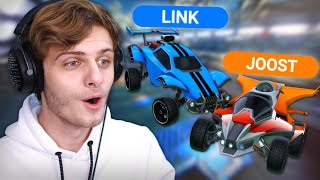 LINK EN JOOST DOEN EEN RUMBLE 1v1 | Rocket League