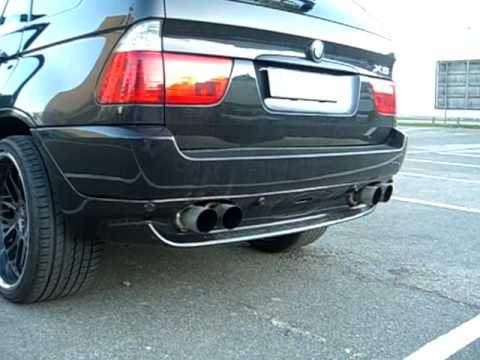 bmw x5 super hammer sound e53 sport exhaust by. Black Bedroom Furniture Sets. Home Design Ideas